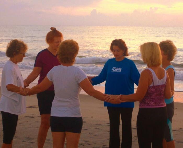 Live Sunrise Beach Yoga Prayer